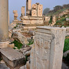 The Roman ruins at Ephesus, Turkey 156. Monument of Memmius in the background.