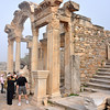 The Roman ruins at Ephesus, Turkey. Temple of Hadrian on Curetes Street.