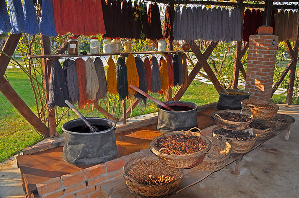 Seeds and colors for dying at a carpet factory, Ephesus, Turkey 360.