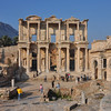 The Roman ruins at Ephesus, Turkey. Celsus Library