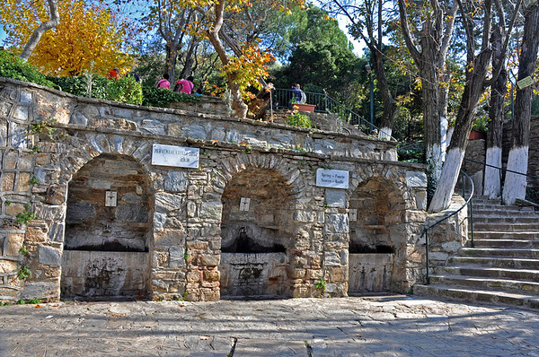 Ephesus, Turkey 302. House of the Virgin Mary, holy-water fountains.