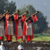 The Roman ruins at Ephesus, Turkey 287. Re-enactors