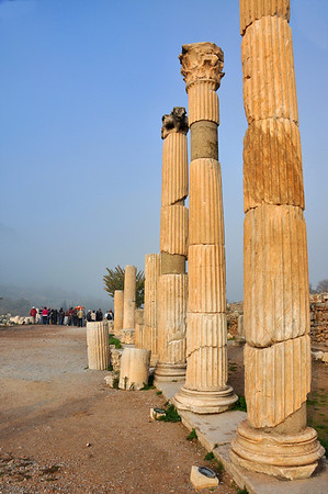 The Roman ruins at Ephesus, Turkey.