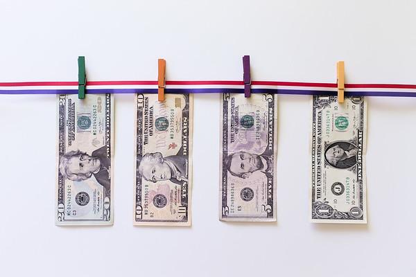 Saving Money on a White Background
