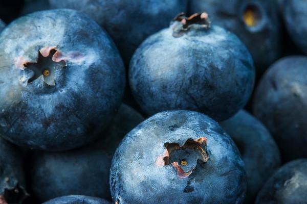 Full Frame Blueberries Macro