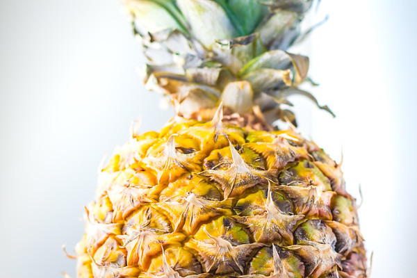 Pineapple Against a White Background
