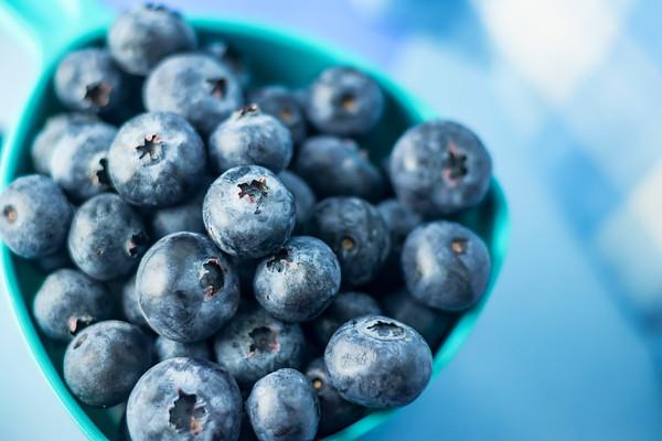 Overhead Blueberries