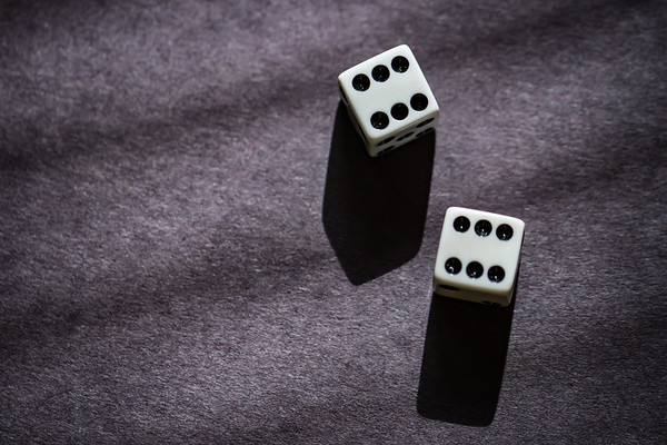 Dice on a Black Background