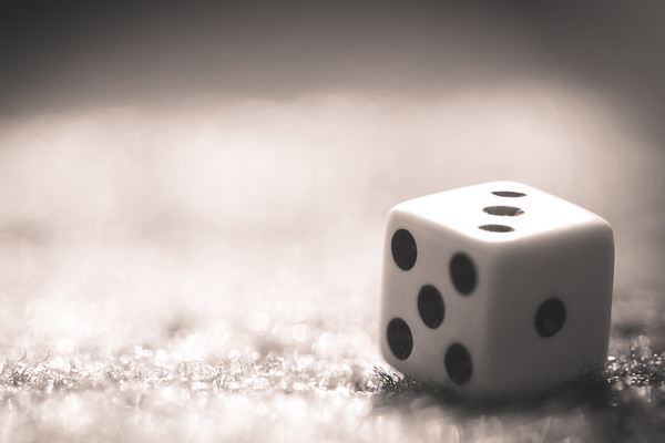 Dice in Black and White