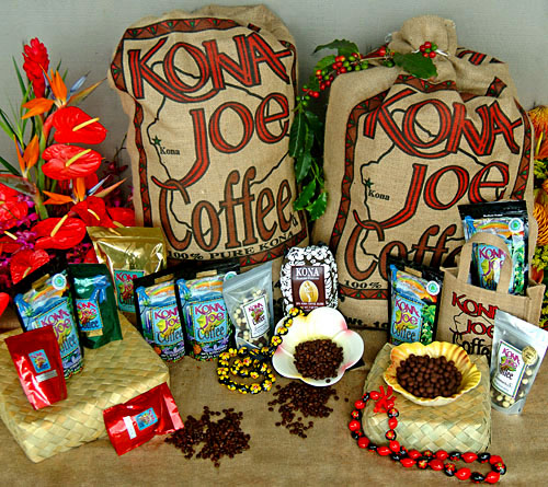 Kona Joe's coffee, Big Island of Hawaii