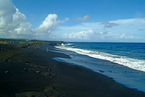 new black sand beach, Puna, Big Island of Hawaii