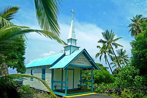St. Peter's blue church, Kona, Big Island of Hawaii