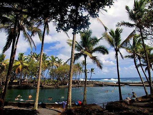 thermal pool, Puna, Big Island of Hawaii