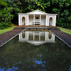 reflecting pool and gazebo, Allerton Garden, National Tropical Botanical Garden (NTBG), Kauai