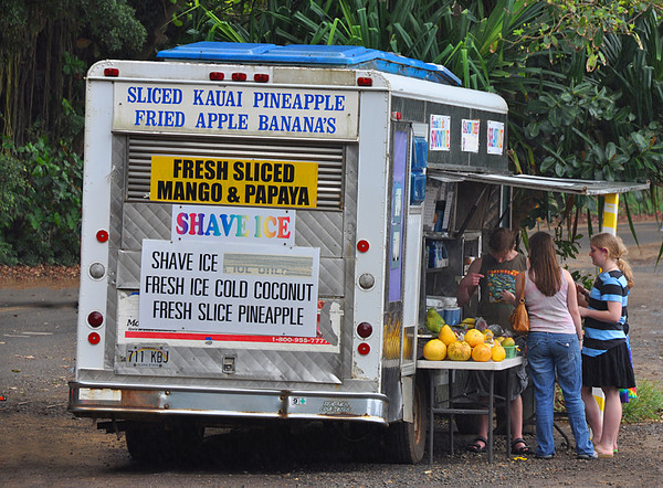 Snack truck, North Shore, Kauai