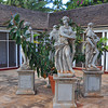 Statues representing the four seasons, main house, Allerton Garden, National Tropical Botanical Garden (NTBG), Kauai