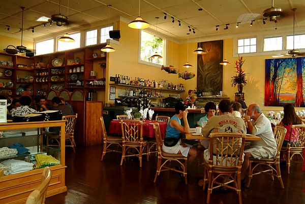 Chef Bev Gannon's Hali'imaile restaurant in Upcountry Maui