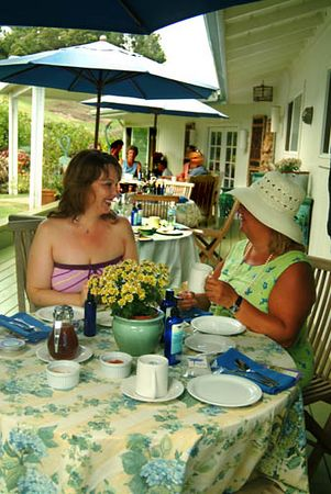 Morning tea service at Ali'i Kula Lavender Farm, Upcountry Maui