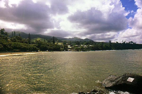 Hana, Maui, as seen from the town's bay.