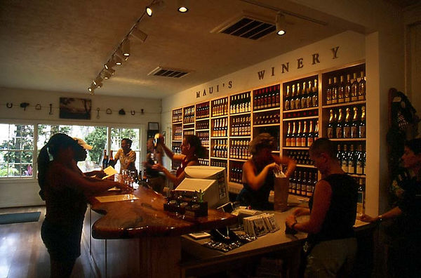 Wine tasting room at Tedeschi Winery, Upcountry Maui.
