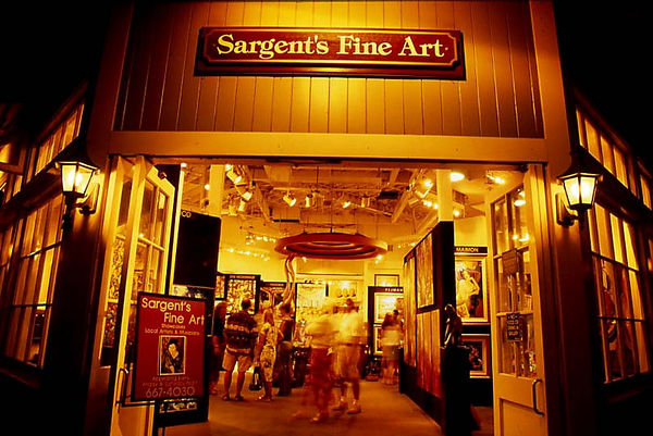 Art galleries stay open during Art Night in Lahaina, Maui.