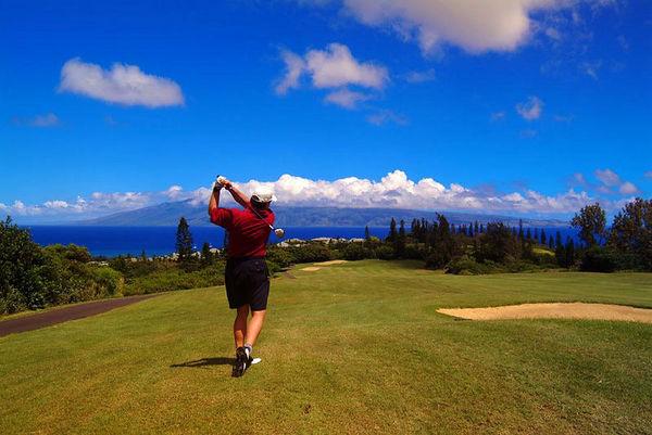 golf: Village Course, Kapalua, Maui