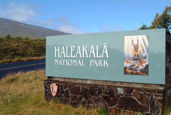 Haleakala National Park sign, Maui