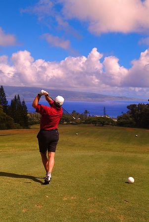 golf; Village Course 08, Kapalua, Maui