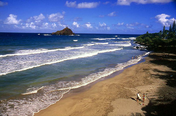 Lehoula Beach and Alau island Seabird Sanctuary, just past Hana in East Maui.