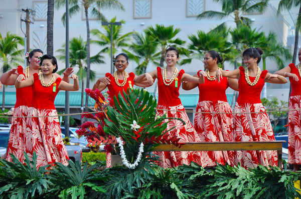 Hula at the Aloha Festivals Parade