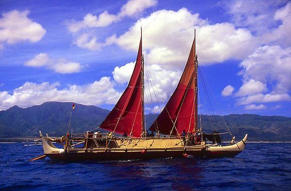 Polynesian voyaging canoe Hokule'a