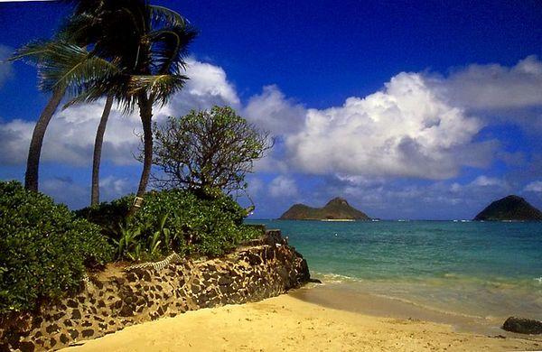 Lanikai beach, Mokuleia islands, Windward Oahu