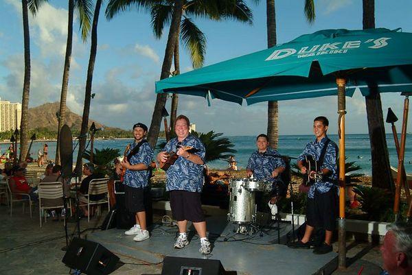 Kapena, performing at Duke's Waikiki