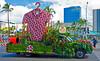 Giant aloha shirt in Aloha Festivals Parade
