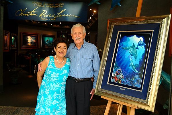 Walter and Dolores Lassen at son Christian Reese Lassen's Waikiki gallery