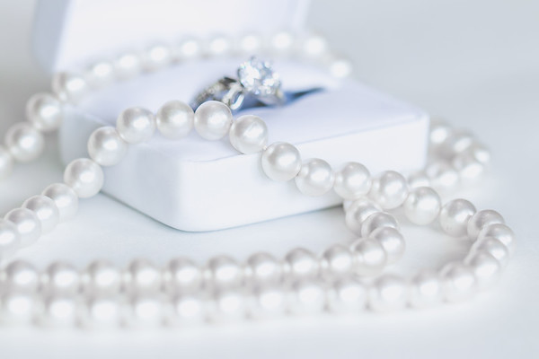 Pearl Jewelry on a White Background