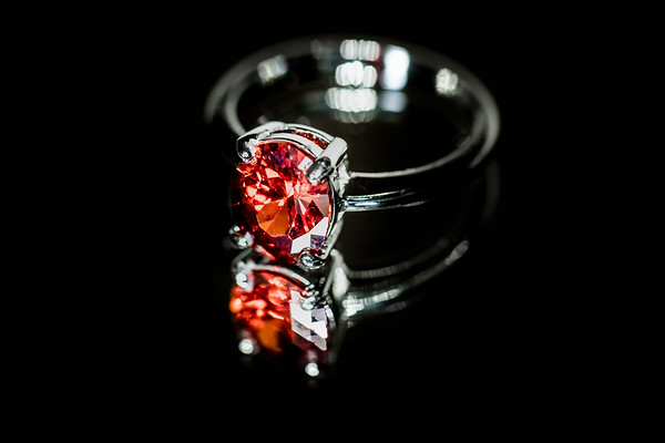 Ruby Ring on a Black Background