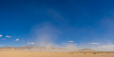 Sandstorm Across Vast Desert