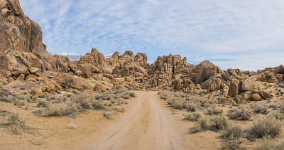 Panorama of California Dirt Road