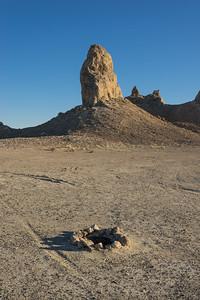 Camp Fire in Desert Wilderness