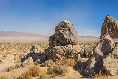 Geologic Rock Formations in Desert