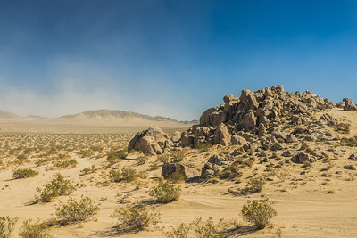 Pile of Boulders in Sand Desert Wilderness