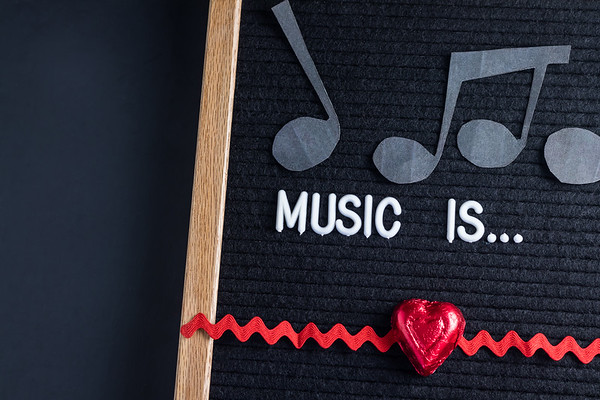 Music Is Text on a Letterboard