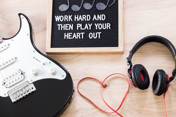 Letterboard and Music Quote
