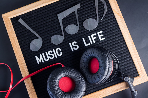 Music Is Life Text on a Letterboard