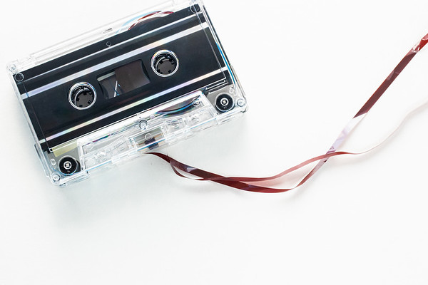 Cassette Tapes on a White Background