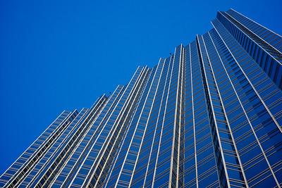 Glass Wall of Skyscraper