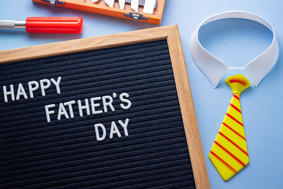 Happy Father's Day Text on a Letterboard