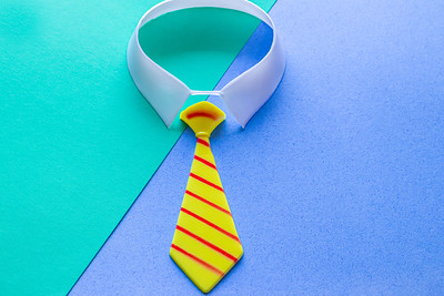 Overhead Tie on a Colorful Background
