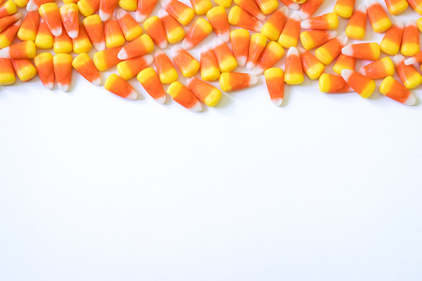 Candy Corn on a White Background